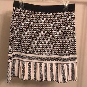 Studio M Black & Cream Small Pleat Mini Skirt - SM